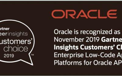 Oracle APEX beste Enterprise low-code platform volgens gebruikers